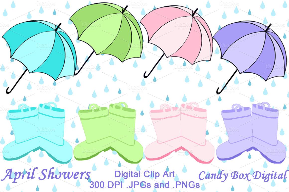 april showers clip art   illustrations on creative market april showers clip art free april showers clip art cars