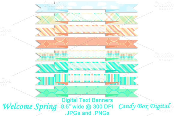 Welcome Spring Text Banners