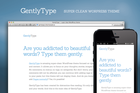 GentlyType V1.1 WordPress Theme