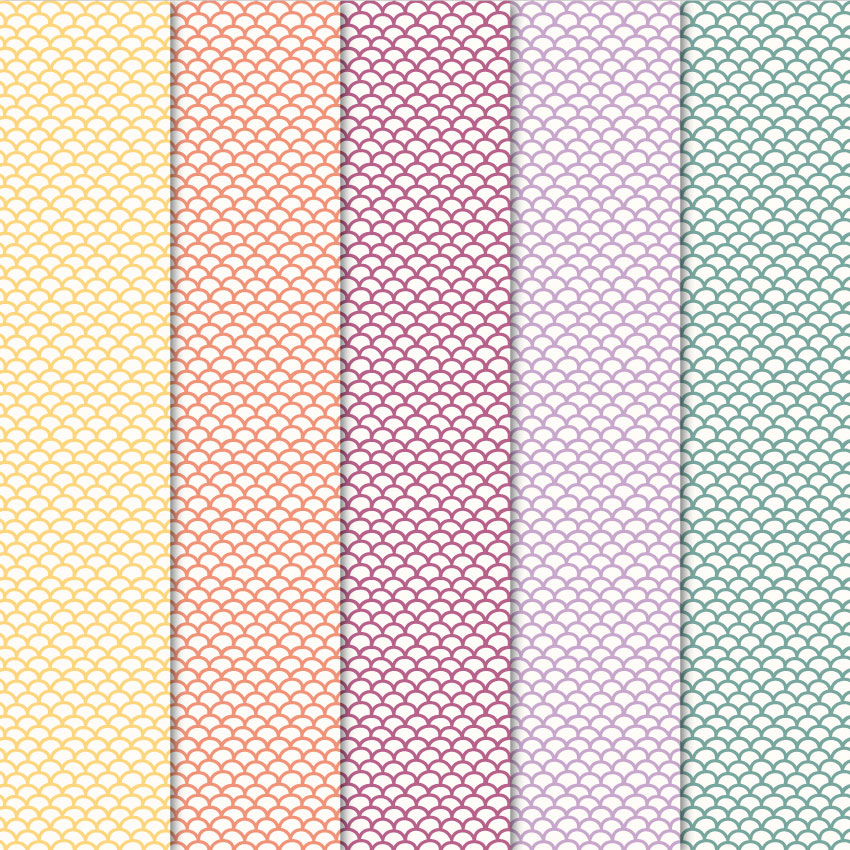 Digital papers fish scales patterns on creative market for Digital fish scale