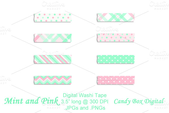 Mint And Pink Washi Tape