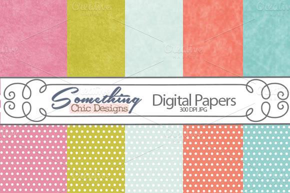 Spring Grunge Digital Backgrounds