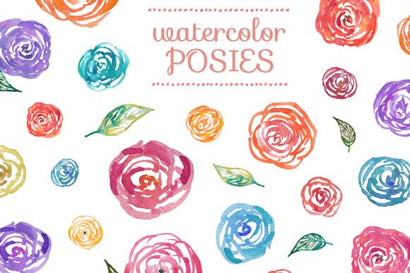Watercolor Posies