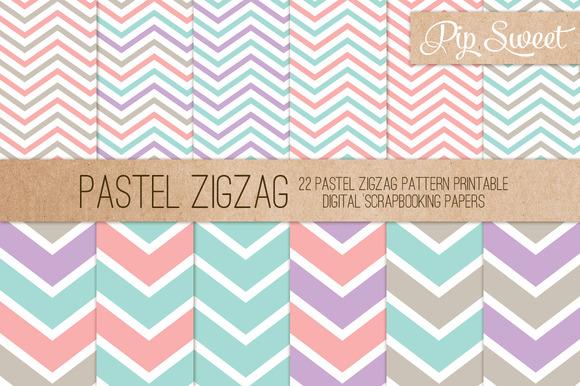 Pastel Zigzag 22 Pattern Set