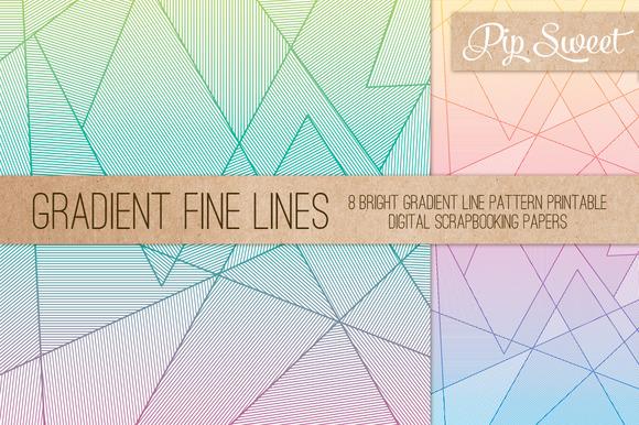 Gradient Fine Lines 8 Patterns