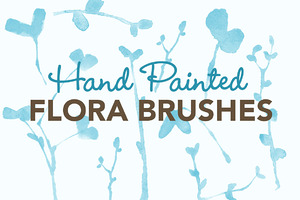 Watercolor Flora Photoshop Brushes
