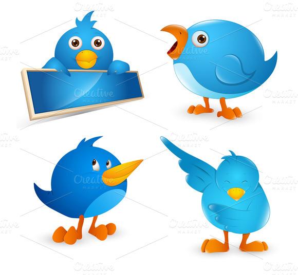 Twitter Birds Vector Illustrations