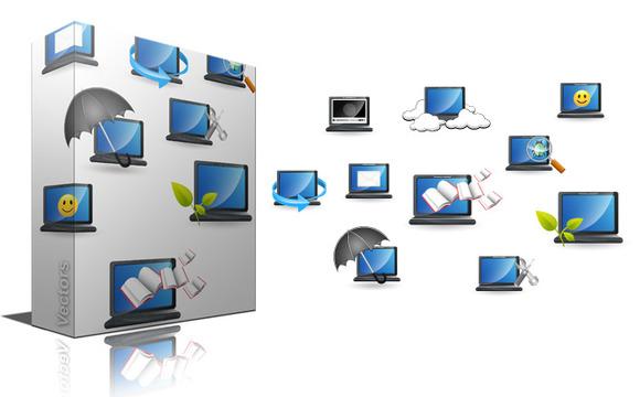 Laptop Computers Icon Vectors