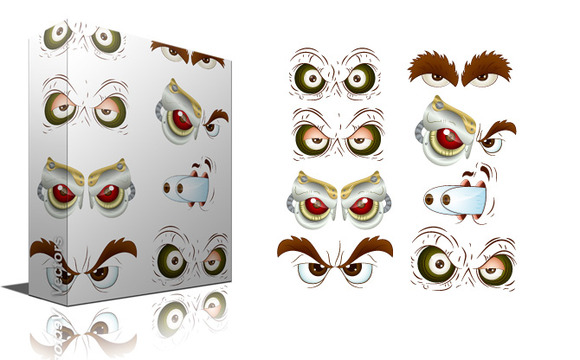 Monsters And Evil Eyes Vectors