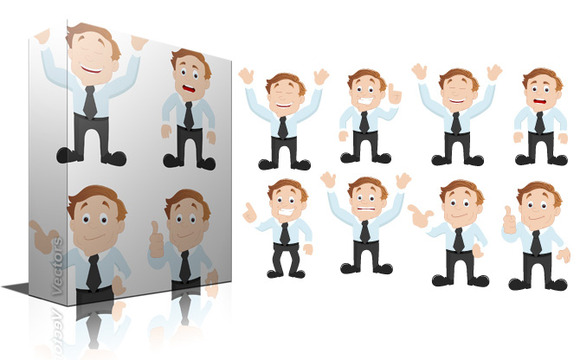 Cartoon Office Guy Vectors
