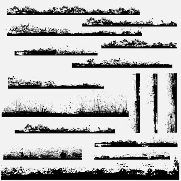 Grunge Border Vector Brushes