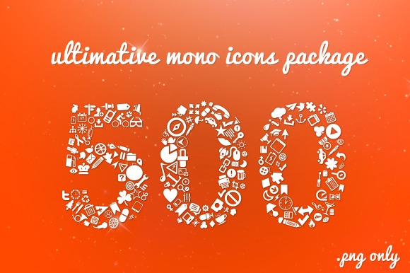 PNG Ultimative Mono Icons Package