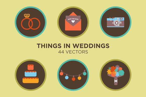 Things In Weddings 44 Vectors