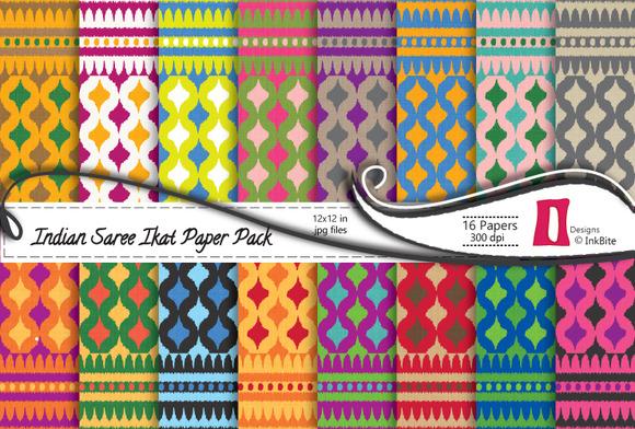 Indian Sari Paper Pack Ikat