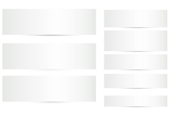 Blank Shadow Banners