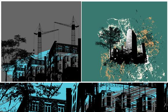 2 Urban Vector Backgrounds