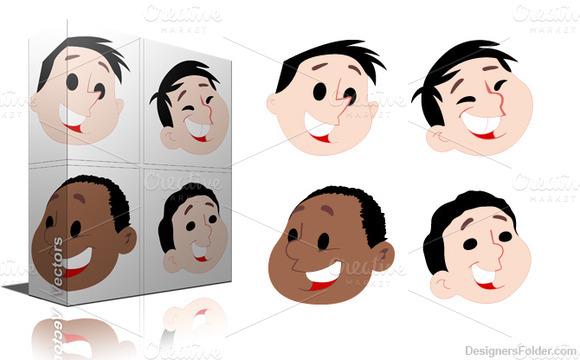 Cartoon Kid Faces