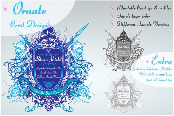 Ornamented Shield Design