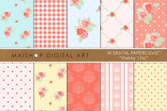 Digital Paper-Shabby Chic