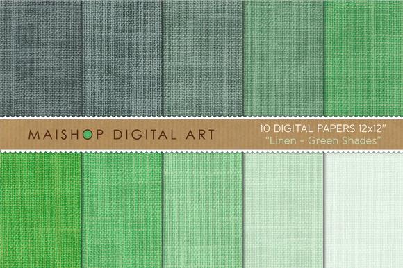 Digital Papers-Linen-Green Shades