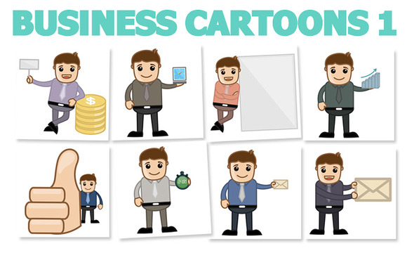 44 Business Concept Cartoons