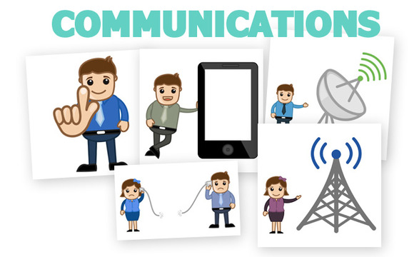 60 Communication Vector Cartoons