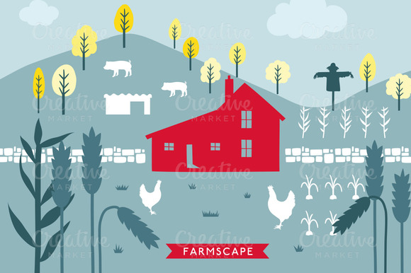 Vector FarmScape Illustration