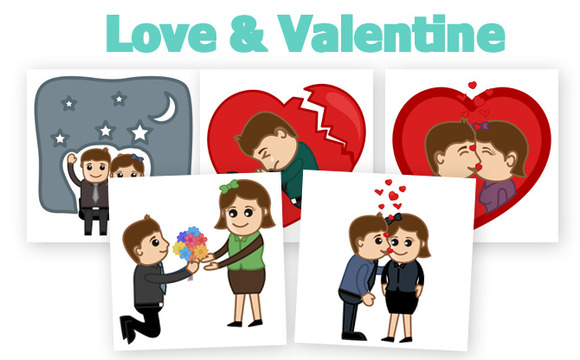 40 Love Valentine Concepts