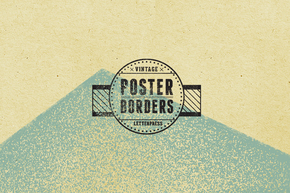 Vintage Poster Borders Texture Pack