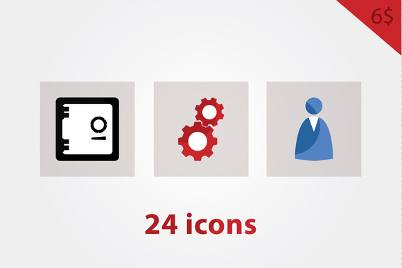 Vector Basic Icons In Three Colors