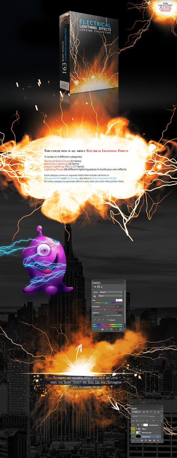 Electrical Lightning Effects Collect