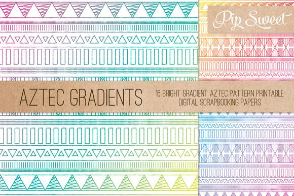 Aztec Gradient 16 Pattern Set