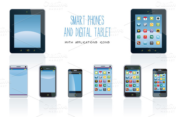 Smart Phones And Digital Tablet