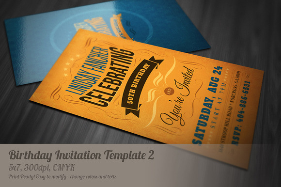 Retro Birthday Invitation Template Heroturko Download - Retro birthday invitation template