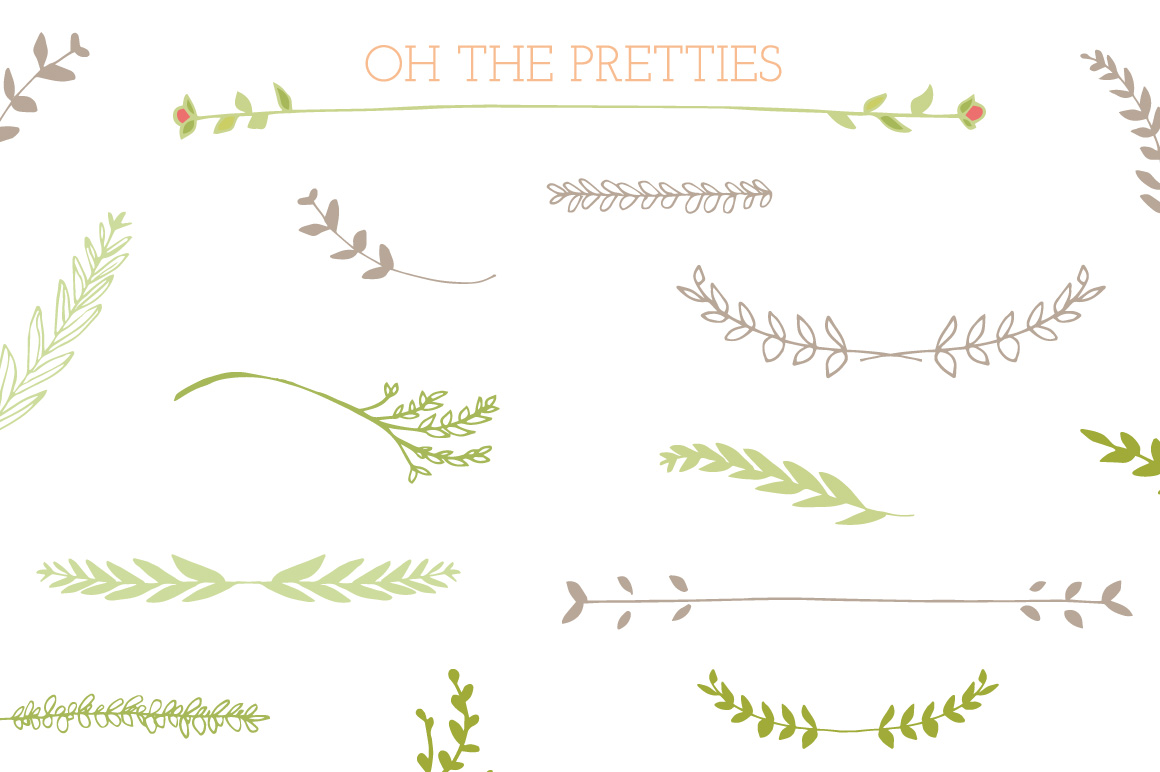 Laurel Frames, Leaves, And Stems ~ Illustrations on Creative Market
