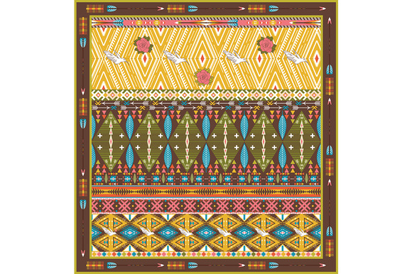 Seamless Colorful Aztec Rug