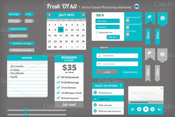 Fresh PSD UI Kit