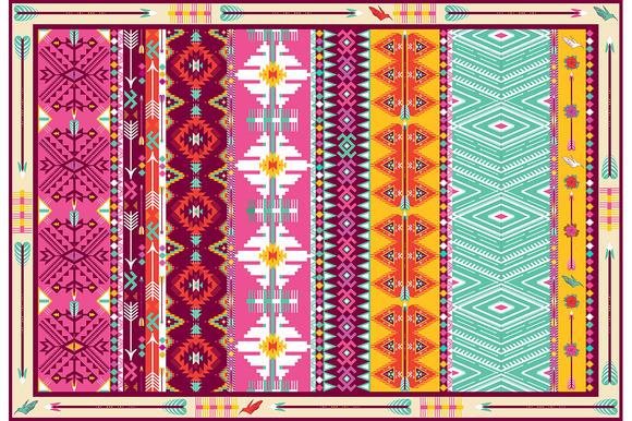Seamless Colorful Aztec Carpet