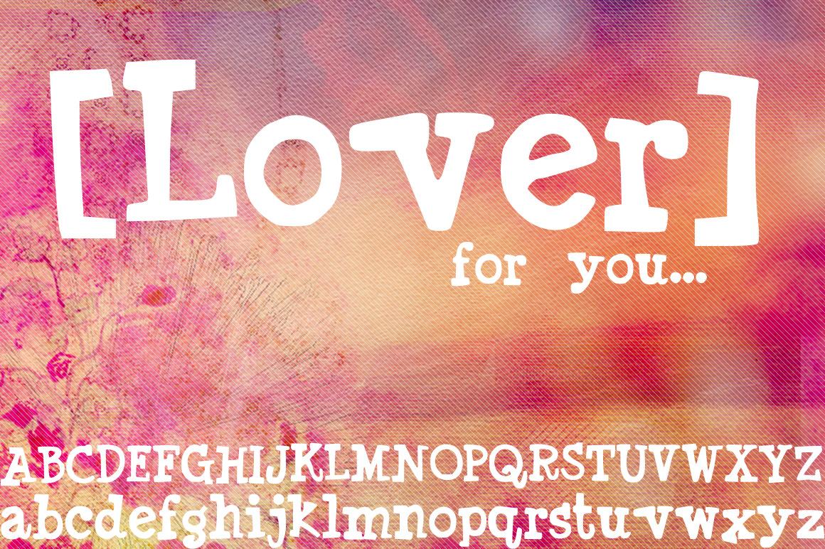 """免费字体 Lover font丨""""反""""斗限免"""