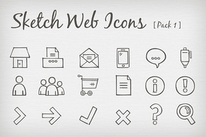 Sketch Web Icons [Pack 1]
