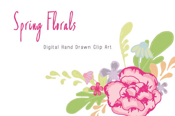 Spring Floral Clip Art And Vector