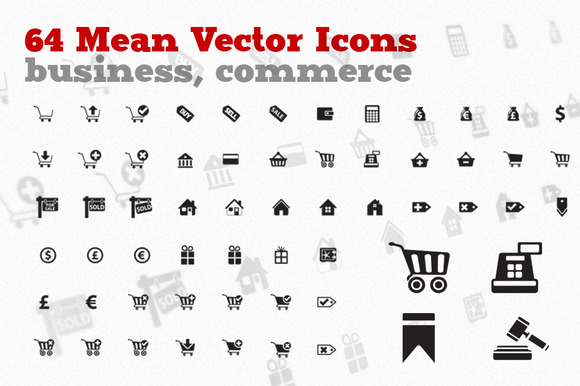 Sell Buy 64 Business Icons