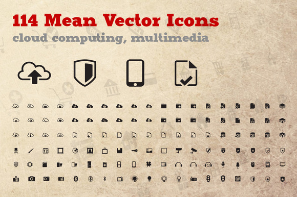 Go Cloud 114 Vector Icons
