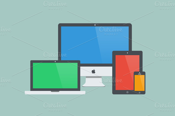 Apple Device Icons Mockups