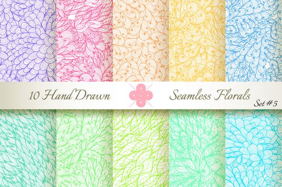 10 Ornate Seamless Florals. Set #5 - Patterns