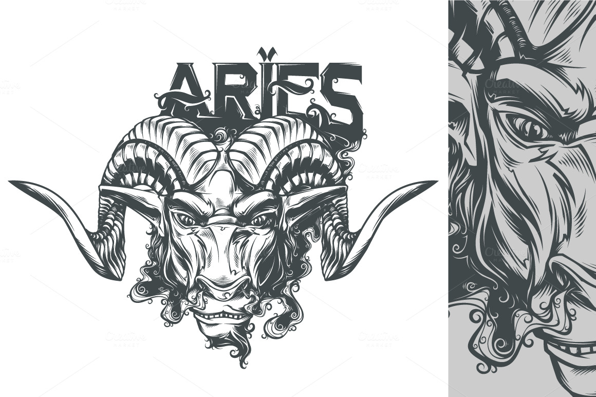 Aries ~ Illustrations on Creative Market