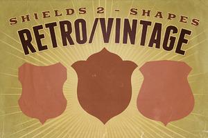 Retro/Vintage shapes - Shields 2