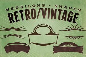 Retro/Vintage shapes - Medailons