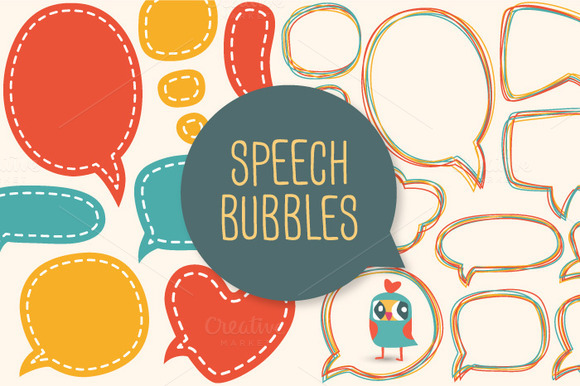 Words speech bubbles photobooth props template for Photo booth speech bubble template