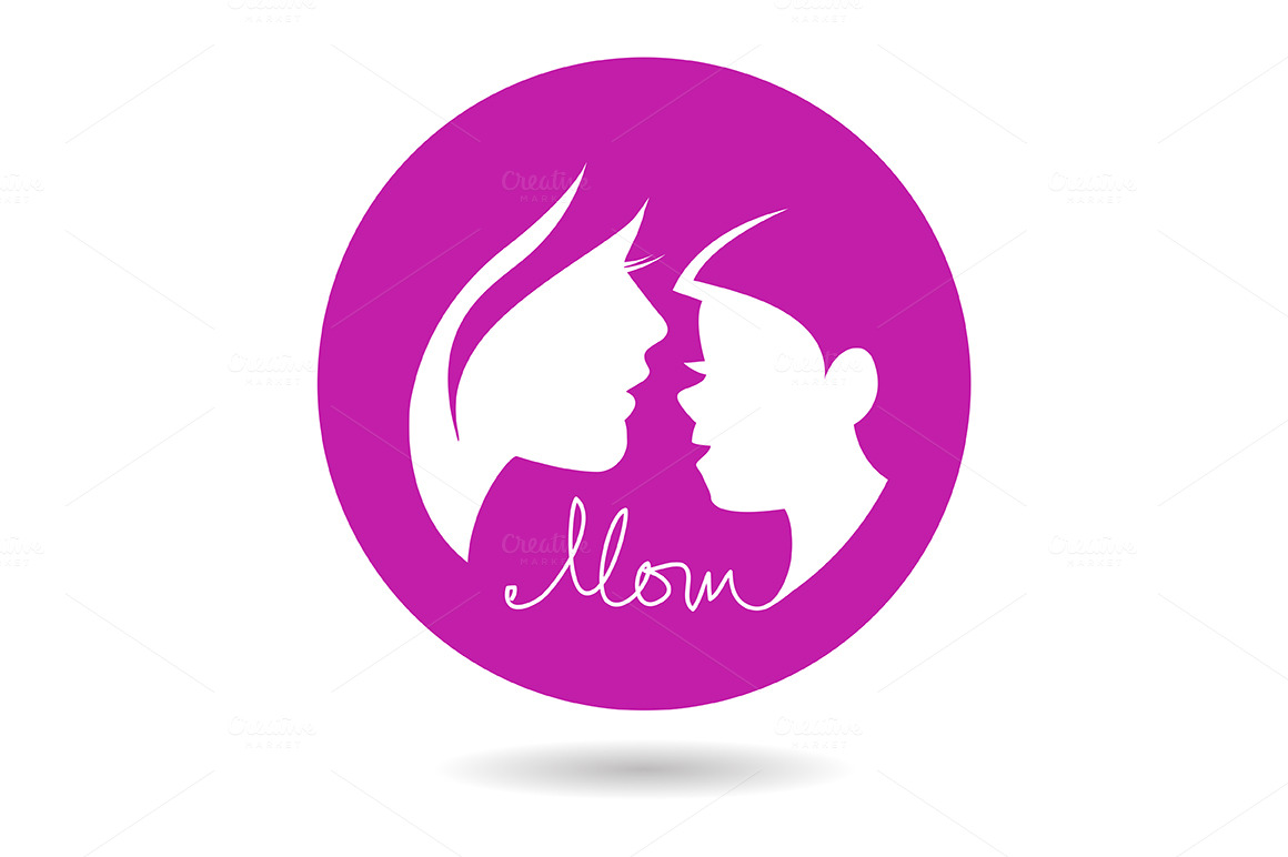 4 mother  u0026 baby silhouettes icon set